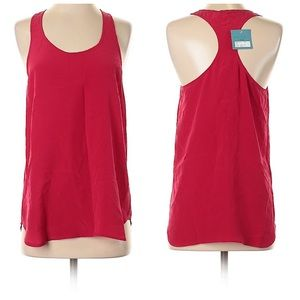 NWT Red silk top